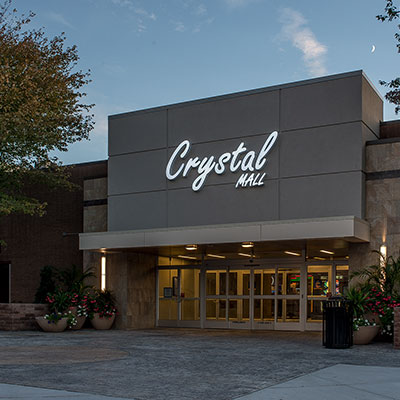 Crystal Mall Main Entrance in Waterford CT