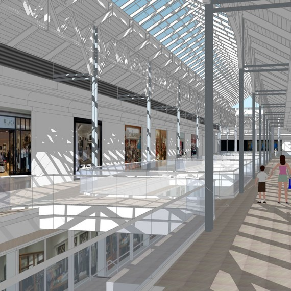 The Mall at Rockingham Park Interior Rendering in Salem NH