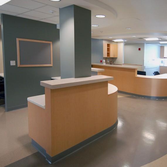 Boston Medical Center Preston 5 nurse's station in Boston MA