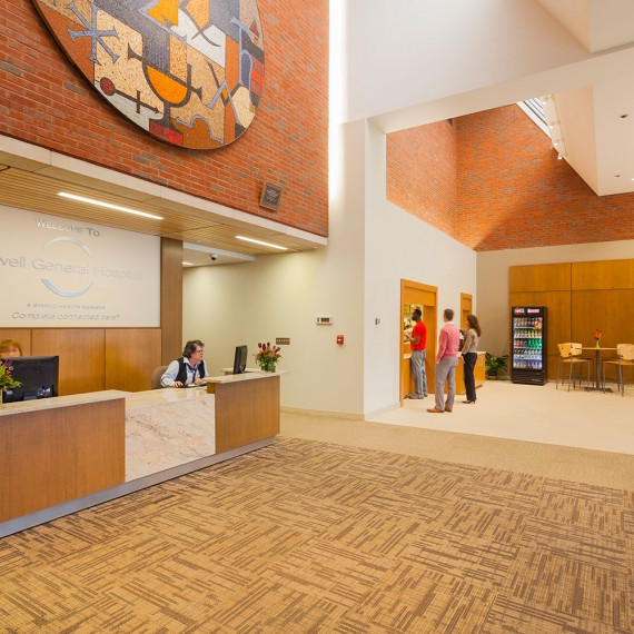 Lowell General Hospital Lobby Renovation in Lowell MA