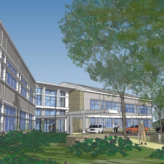 Pentucket Medical Center Pedestrian Entrance in Amesbury MA