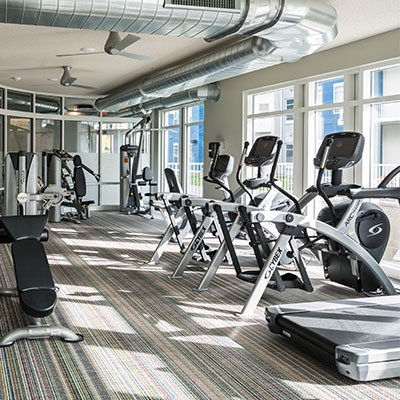 Student Housing Fitness Center in Minneapolis, MN.