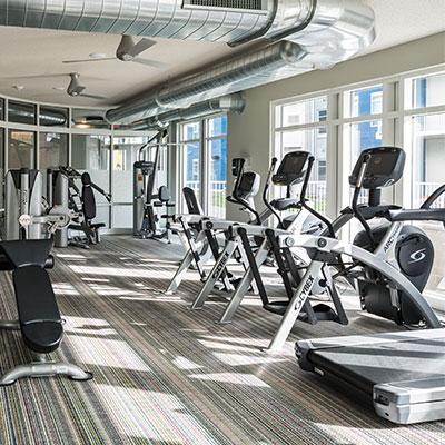 Student Housing Fitness Center in Minneapolis, MN.