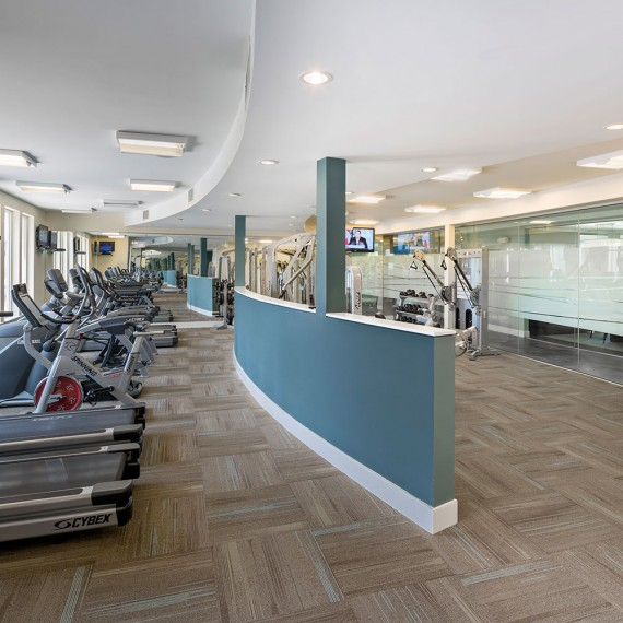 atMark Fitness Center cardio in Cambridge MA