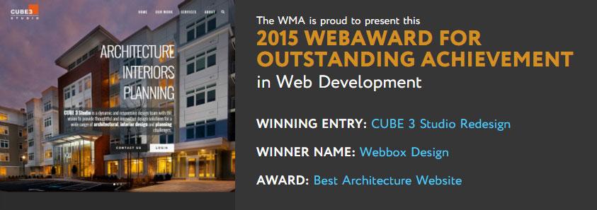 Web Marketing Association 2015 WebAward