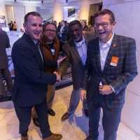 From left: Nik Middleton (CUBE3 CEO/Partner), Roger Phillips (Texla Housing Partners), Warren Burke (Campus Apartments), Brian O'Connor (CUBE3 Partner)