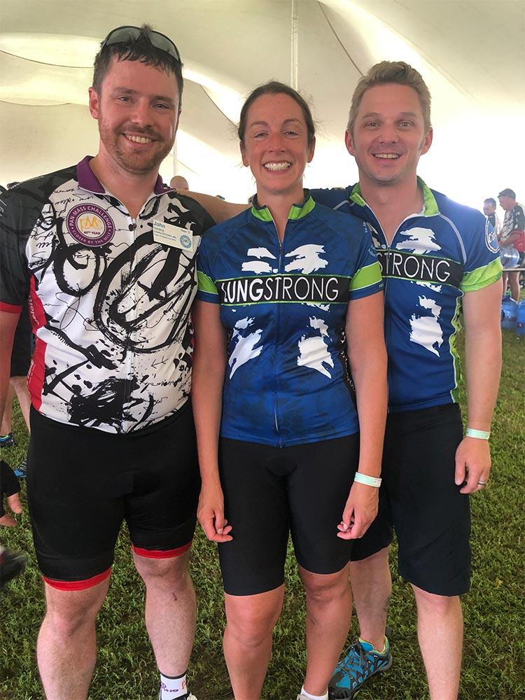 Team CUBE 3. From left: John Harding, Philippa Middleton, Keith Boyle