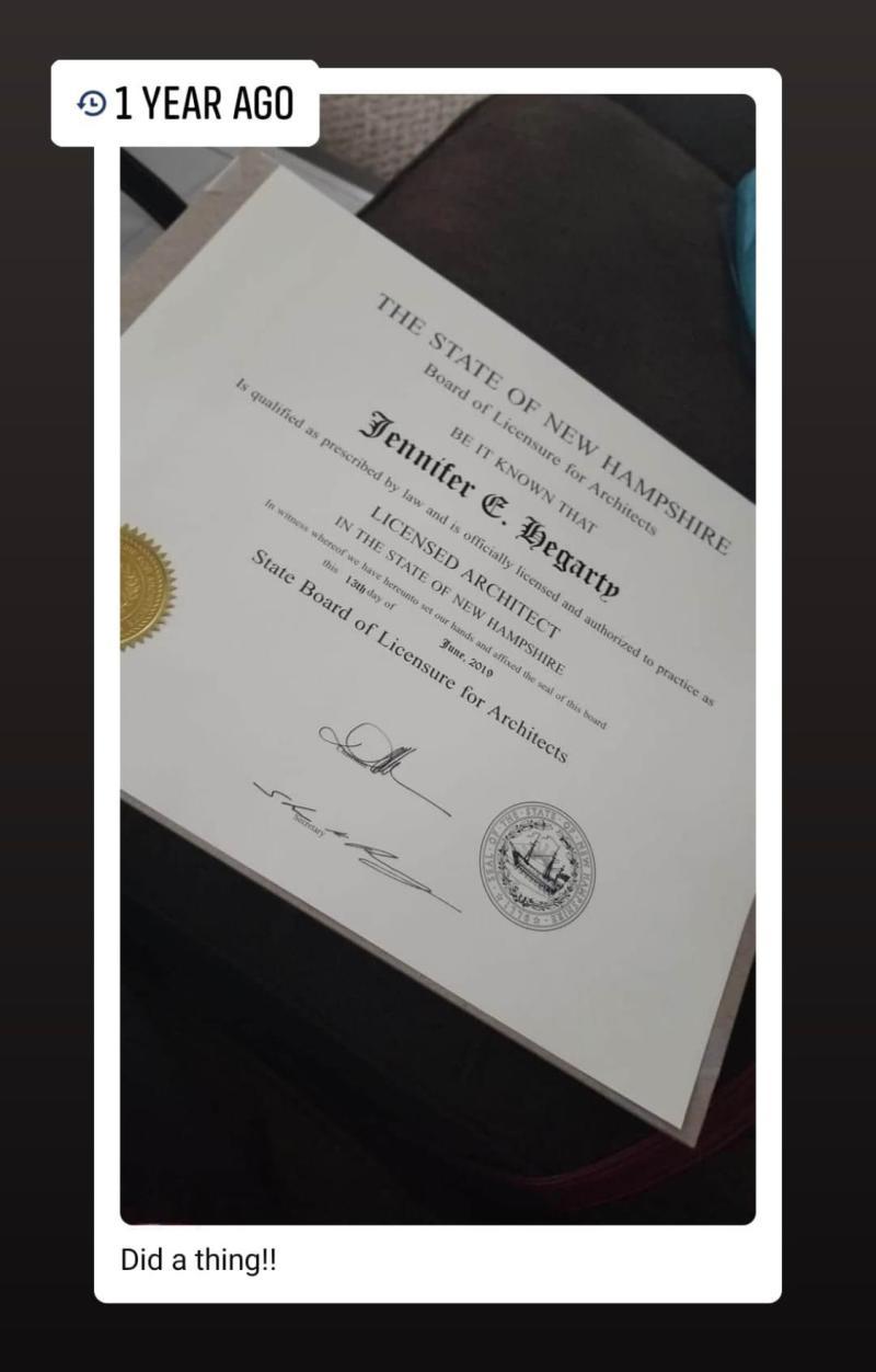Jennifer Hegarty NH License
