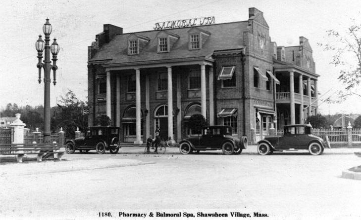 Balmoral Spa Shawsheen Village Andover MA 1920's