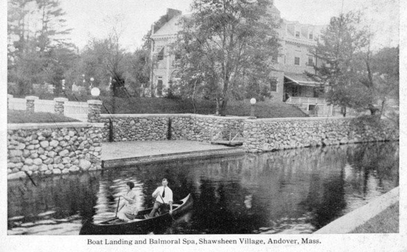 Boating at Balmoral Spa Shawsheen Village Andover MA 1920's